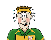 Unfit Rugby Player Cartoon