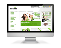 Druckerei Wenzel - Website & Webshop