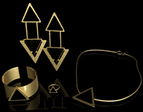 Stamped gold and onyx collection