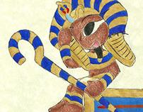 Lightning Wolf Illustrations: Newly Crowned Pharaoh
