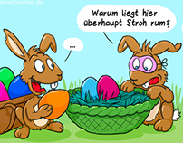 Easter Cartoon - Stroh