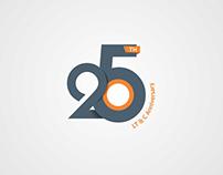 25th Anniversary Logo Design