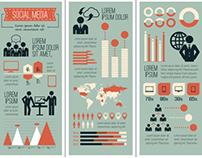 Social Media Flat Infographics Elements
