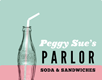 Peggy Sue's Parlor Menu Design
