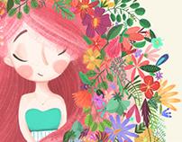 Ilustration · Flower girl ·