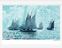 History of the America's Cup print series