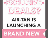 Air Tan Text Club Flier & Web Banner