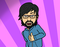 My professional profile through 'Bitstrips'