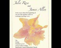 Watercolor Daffodil Invitation