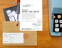 james bond wedding stationery / save the date