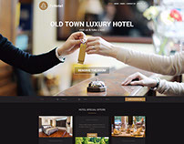 Hotel WordPress theme Example of dark color version