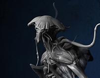 Alien concept. Race KSARR