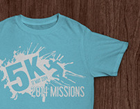 5k for Missions - T-shirt