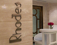 Rhodes 44 Logo & Sign at The St. Regis Abu Dhabi