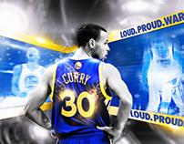 Loud.Proud.Warriors. : Stephen Curry