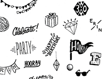 Hooray! Birthday Invitations