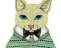 Un gato con sweater