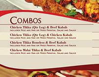 Menu Design - Cafe De Khan - Table Menu