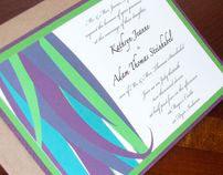 Peacock Feather Invitation