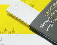 Camill Leberer Metaphysik des aufgeklärten Materials