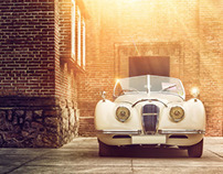 Jaguar XK120 _1950 - Retouching