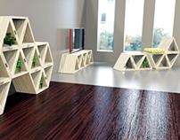 Trian: Modular multifunctional furniture