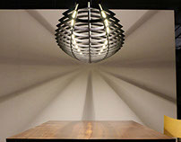2.4m long Hull pendant light