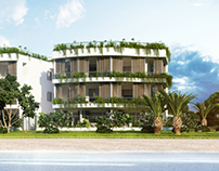 Render of building in Andora (Italy)