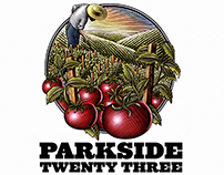 Parkside 23 Branding Illustrated by Steven Noble