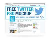 FREE April 2014 Twitter PSD Mockup Template