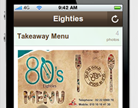 Eighties Restaurant Social & Mobile Apps