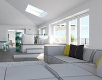Interior design and render apartment in Liguria (Italy)