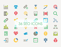 36 SEO Vector Icons (Freebie)