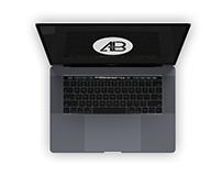 Realistic 2016 Space Gray Macbook Pro Mockup Vol.4