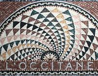 L'Occitane mosaic floor mat
