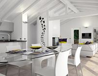 Interior design and render Casa Emilio.