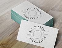 Ali Winston Photography Logo options