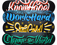 Skate Letters - Hand-painted Skateboards