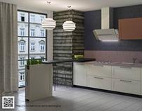 Visualization of kitchen sets