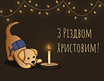 Illustrations for social media with mascot for holidays