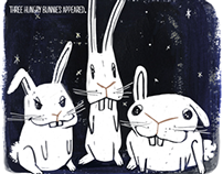 Three Hungry Bunnies