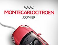 Campanha de divulgação do site Montecarlo Citroën