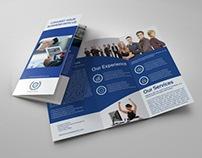 Company Brochure Tri-Fold TemplateVol.9