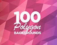 100 Geometric Polygon Backgrounds