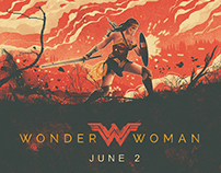 Wonder Woman Illustrated Movie Poster