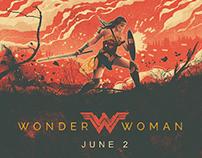 Wonder Woman Illustrated Movie Poster