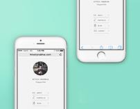Portfolio Site (Mobile) - UI/UX Design