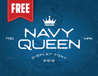 FREE Font #NavyQueen 2016