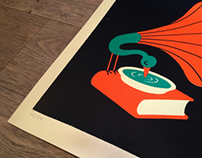 Jazz - Handmade limited edition silkscreen print