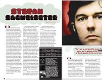 Magazine Layout: Stefan Sagmeister